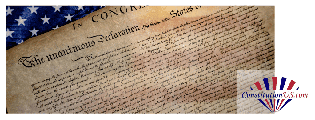 Declaration Of Independence Header Image