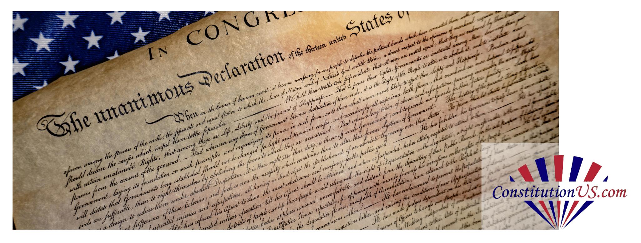 Declaration Of Independence Header Image