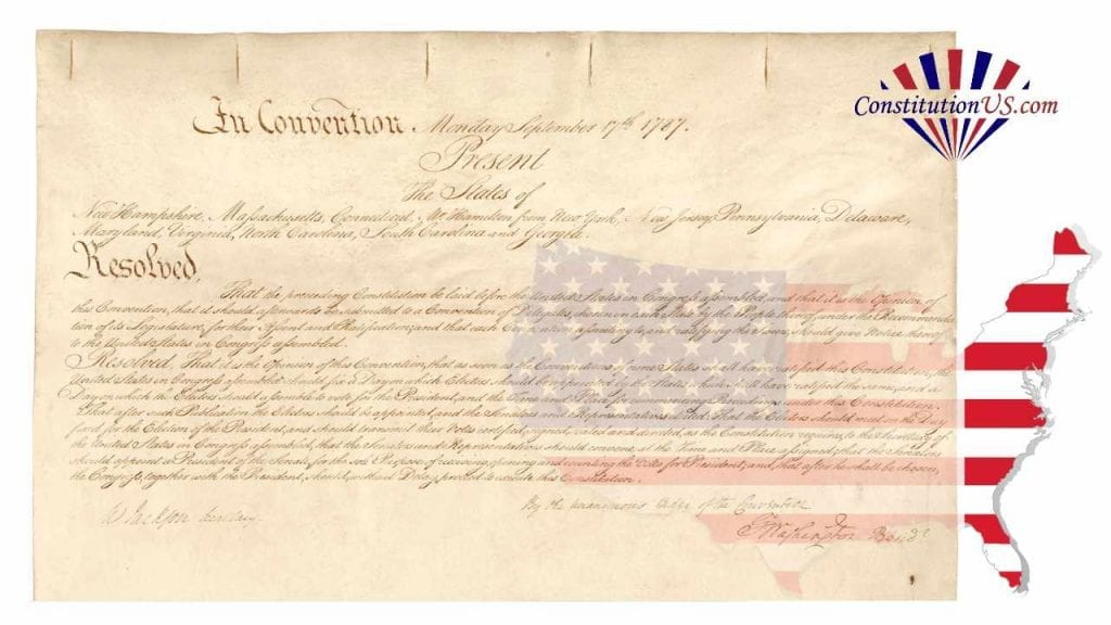 Letter of transmittal of the constitution
