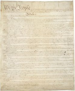 The US Constitution Page 1