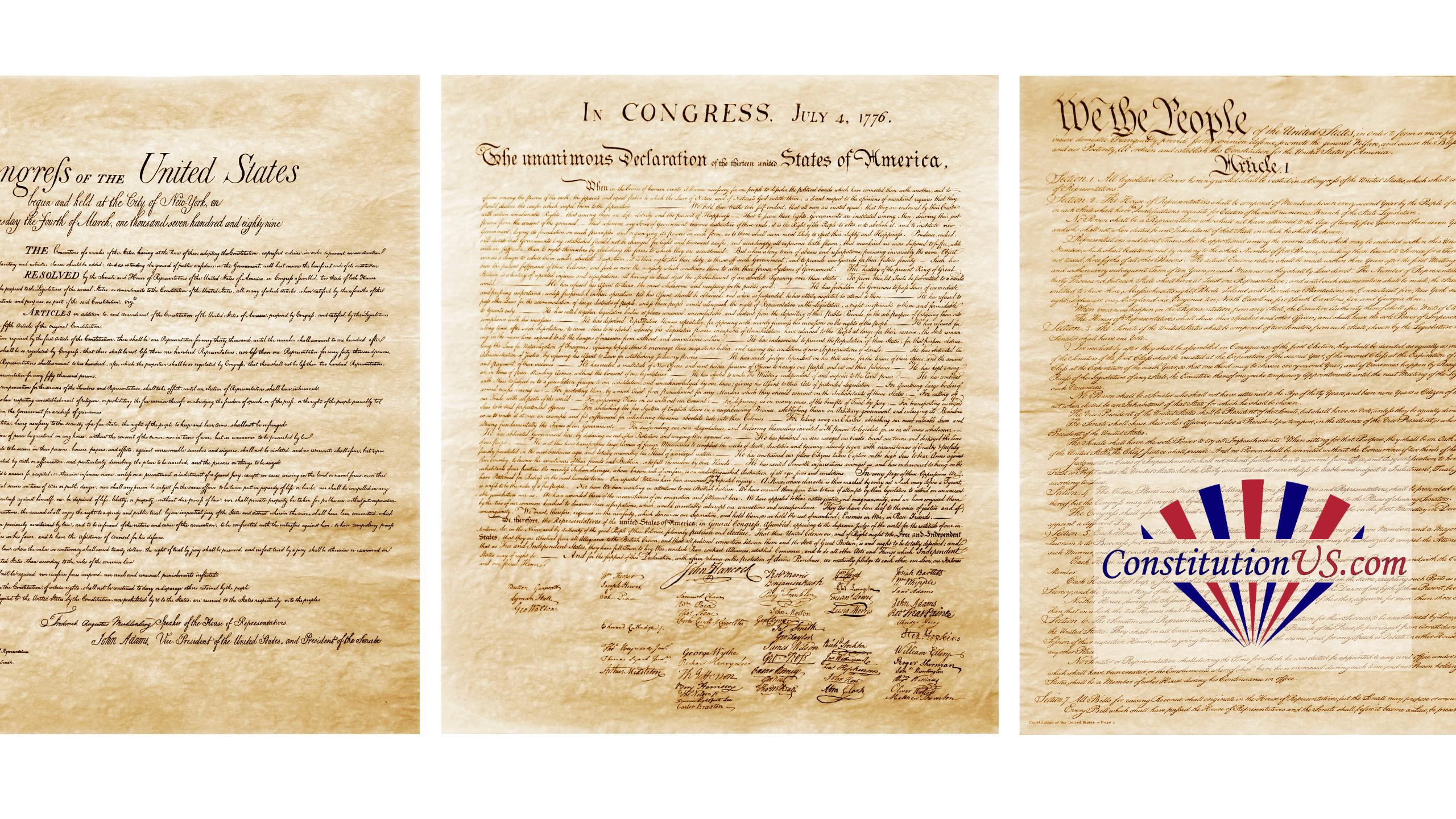 Original copy of US constitution