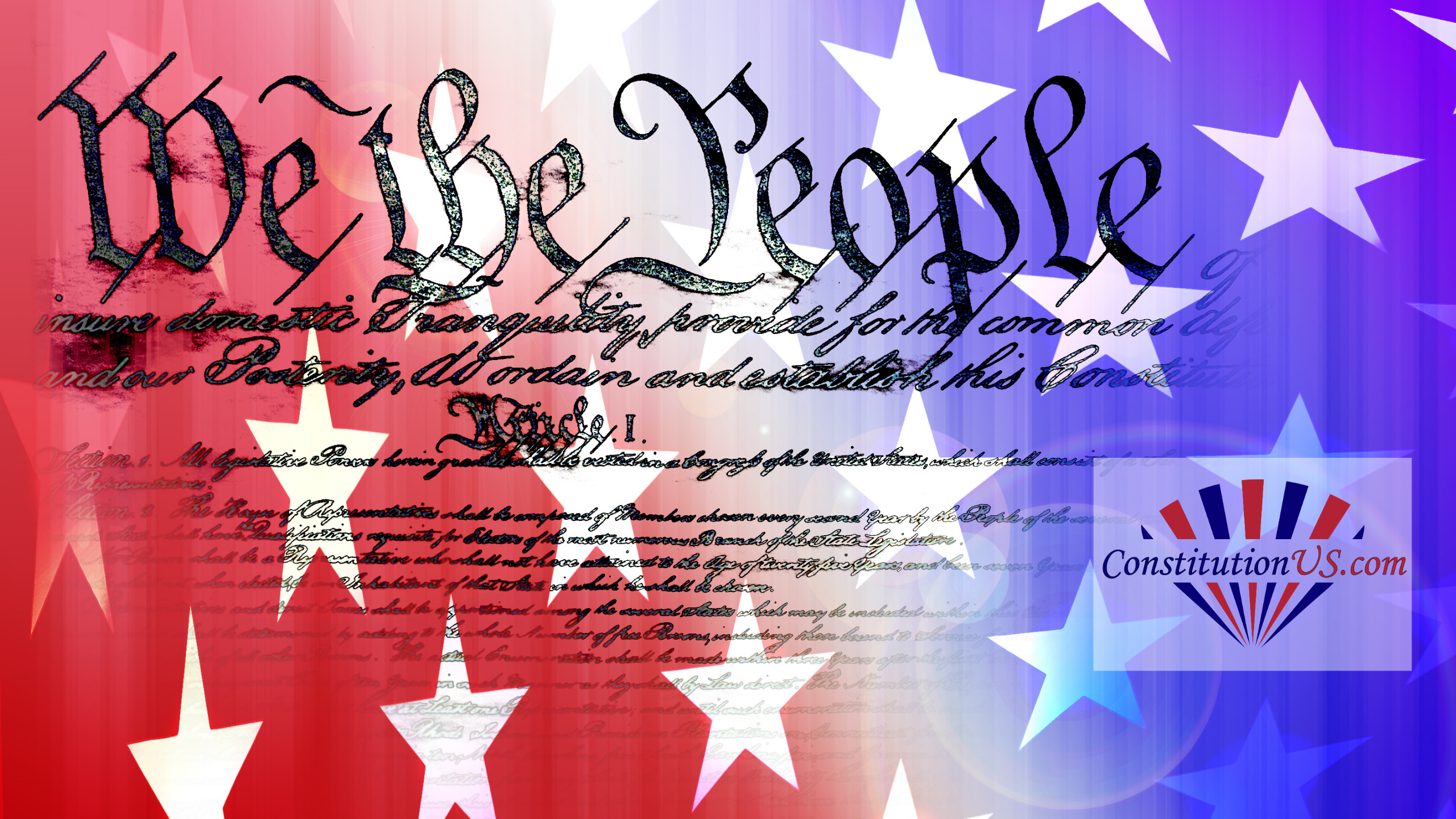 We the People against US flag